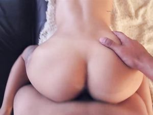 Dick Sucking Brunette Cutie Does Doggystyle Sex