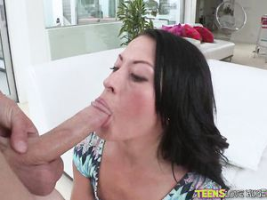 Beauty Sits Her Soaking Wet Vagina On A Big Cock