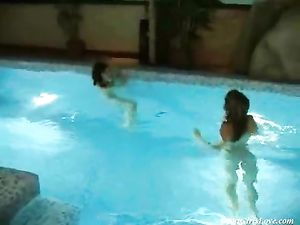 Nude Swimming And Sexy Licking With Hot Lesbians