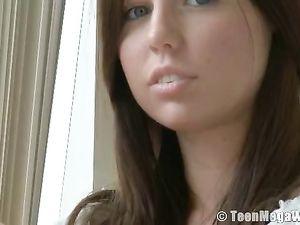 Beautiful Solo Brunette Teen Loves Her Dildo