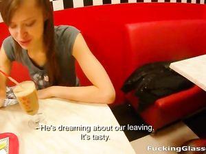 Teen Follows Him To A Public Bathroom To Suck Dick