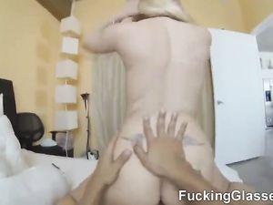 Cute Blonde Teen Follows Him Home For POV Fucking