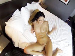 Burying Dick In The Brunette Slut In His Hotel Room