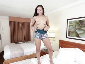 Sexy Teen Girl With Perky Titties Fucking In A Hotel Room