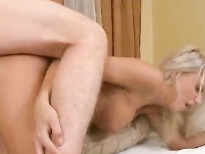 Hot Blonde Cocksucker Takes His Stiffness In Her Cunt
