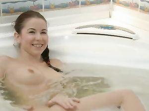 Bathing 18 Year Old Fucked By Her Boyfriend