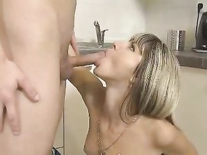 Tiny Babe Offers Her Cunt For His Pleasure