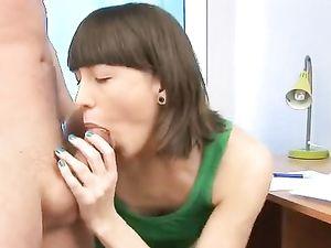 Pierced Teen Tongue Licks His Cock And Balls