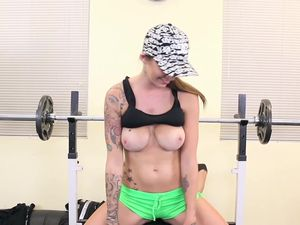 Nutting On The Big Titties Of An Inked Babe