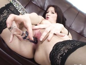 Stockings Are Sexy On A Naughty Anal Girl
