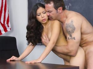 Latina Slut In Sneakers Fucked By A Teacher