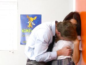 Schoolgirl Evi Fox Fucked By Her Hunky Teacher