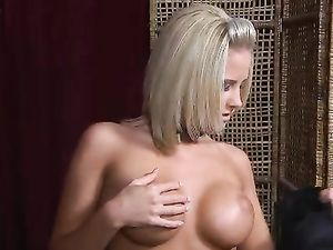 Perfect POV Blowjob From This Big Titty Blonde Chick