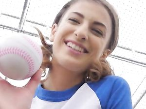 Petite Baseball Babe Needs Cock In Her Sporty Body