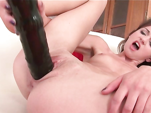 Massive Toys And A Tiny Girl Have Great Sex
