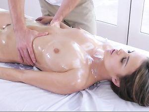 Oiled Dillion Harper Rides Big Dick To Orgasm