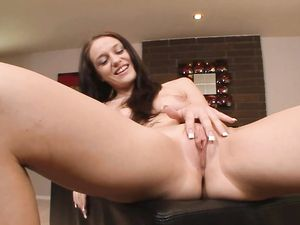 Fucking A Hot Cunt And Cumming On Her Young Tits