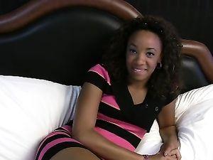 Interracial Fucking Of A Young Ebony Cutie