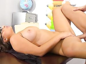 Chubby Schoolgirl Gets Her Tight Pussy Pounded