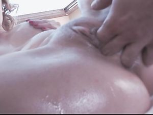 Asshole Of A Brunette Babe Gets Pounded Roughly