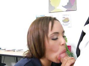Brunette Teen Fucking Her Teacher In The Classroom