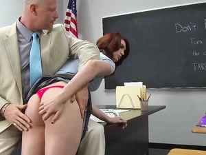 Naughty Redhead Schoolgirl Fucked By The Teacher